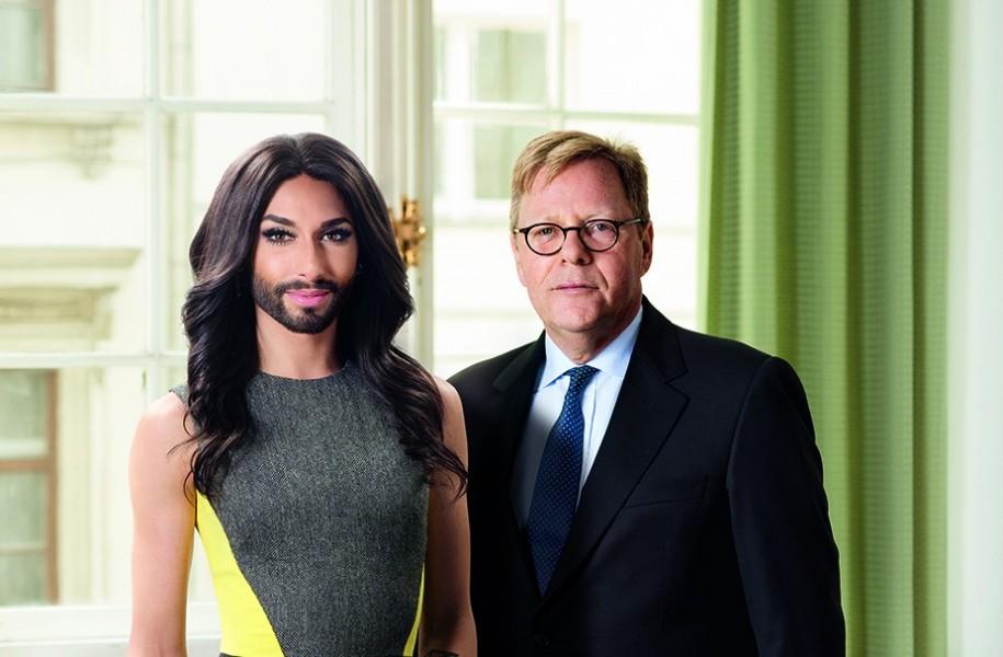Conchita Wurst Kampagne Bank Austria für Song Contest