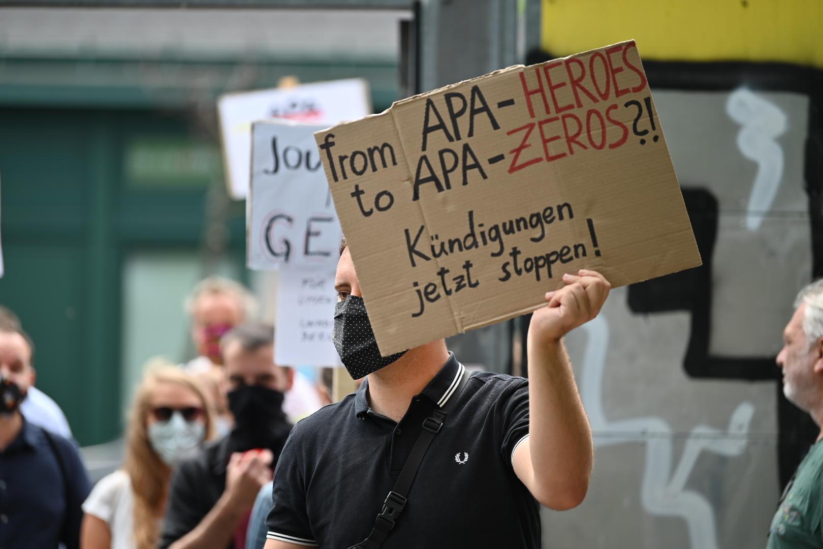 APA Proteste Personal Medien