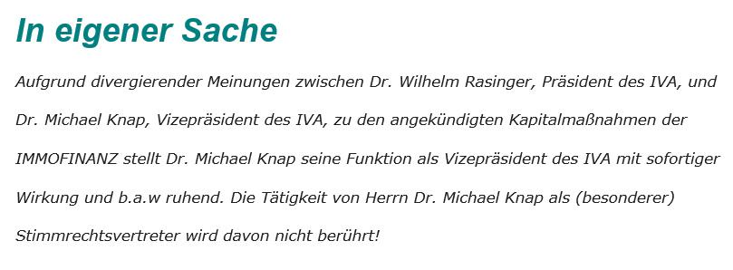 IVA Rassinger Immofinnaz Knap